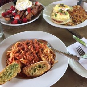 Bolognese and benedict
