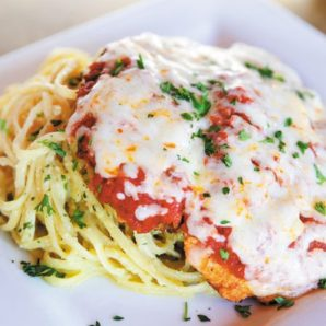our famous chicken parmesa