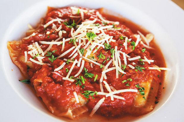 Homemade 3 cheese ravioli